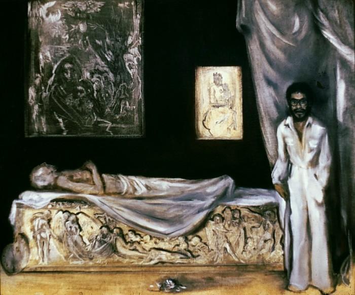 allegory of painting: death of saint luke