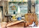 interior: eric's houseboat