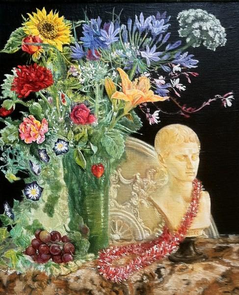 still life with garland