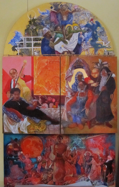 "invitation triptych by antony de senna (closed) 18"" x 36"""